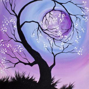 Cherry Tree Holding The Moon