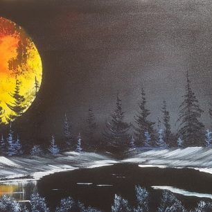Red Moon Bob Ross